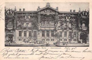Ansichtkaart Amsterdam Nederl. Bank 1898 Binnenvaart schepen Scheepvaart HC20906