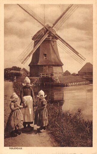 Ansichtkaart Volendam Molen Kinderen in klederdracht 1922 HC20919