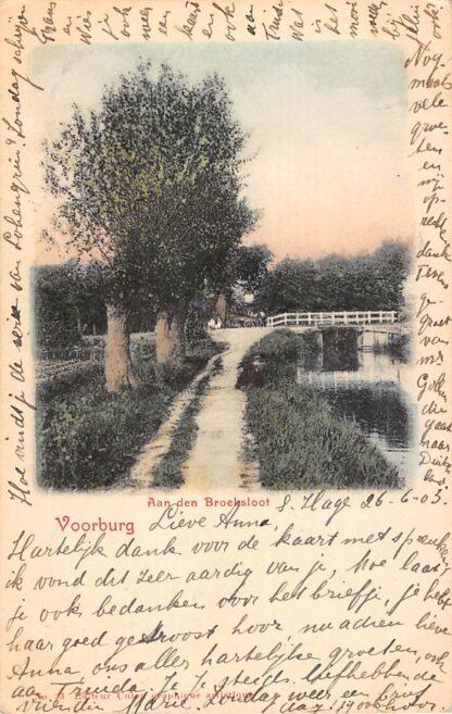 Ansichtkaart Voorburg Aan den Broeksloot 1903 Den Haag HC20923
