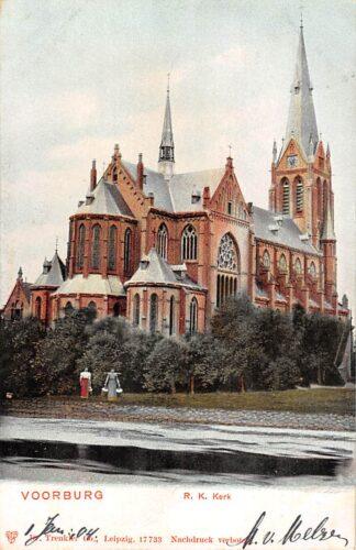 Ansichtkaart Voorburg R.K. Kerk 1903 Den Haag HC20925