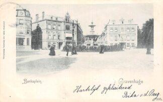 Ansichtkaart 's-Gravenhage Bankaplein 1901 HC20946