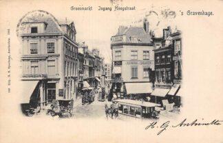 Ansichtkaart 's-Gravenhage Groenmarkt Ingang Hoogstraat HTM Paardentrams Tram 1901 HC20948