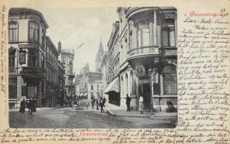 Ansichtkaart 's-Gravenhage Gravenstraat 1899 HC20953