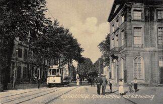 Ansichtkaart 's-Gravenhage Korte Voorhout met Schouwburg 1906 HTM Tram Lijn 9 HC20966