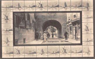 Ansichtkaart Den Haag Gevangenpoort Molens 1913 HC20977