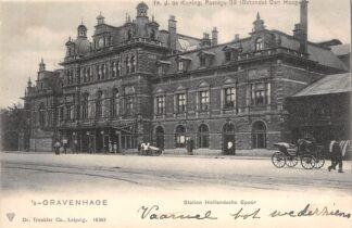 Ansichtkaart 's-Gravenhage Station Hollandsche Spoor Spoorwegen HC20981