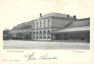 Ansichtkaart 's-Gravenhage Station Staatsspoor 1900 Spoorwegen HC20982