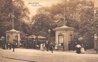 Ansichtkaart Amsterdam Ingang Artis Dierentuin Zoo 1908 HC20991