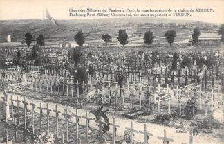 Ansichtkaart Frankrijk Cimetiere Militaire du Faubourg Pave le plus important de la region de Verdun Begraafplaats Militair WO1 1914-1918 France Europa HC21045