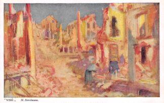 Ansichtkaart België Wezet Vise WO1 1914-1918 Illustrator M. Sterckmans Vente au profit des Asiles des Soldats Invalides Belges Europa HC21048