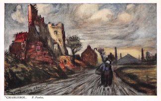 Ansichtkaart België Charleroi WO1 1914-1918 Illustrator P. Paulus Vente au profit des Asiles des Soldats Invalides Belges Europa HC21049