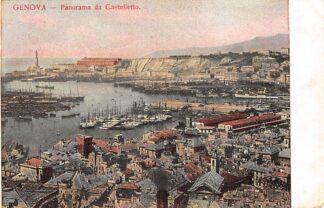 Ansichtkaart Italië Genova Panorama da Castaletto Italia Europa HC21055