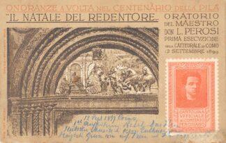 Ansichtkaart Italië Como Oratorio del Maestro Don L. Perosi prima esecvzione nella Cattedralle di Como 12 Septembre 1899 Italia Europa HC21056
