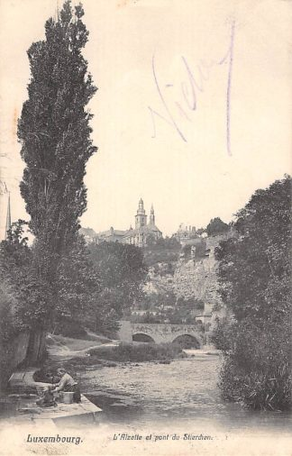 Ansichtkaart Luxemburg L'Alzette et 'pont du Strierchen 1906 Luxembourg Europa HC21080