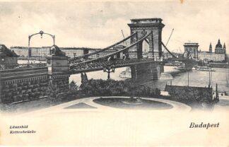 Ansichtkaart Hongarije Budapest Kettenbrucke 1902 Hungary Europa HC21097