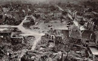 Ansichtkaart Duitsland Xanten a. Rhein 1945 Verwoeste gebombardeerde stad WO2 Deutschland Europa HC21119