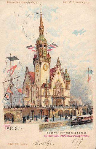 Ansichtkaart Frankrijk Paris Exposition Universelle de 1900 Le Pavillon Imparial d'Allemagne France Duitsland Europa HC21141