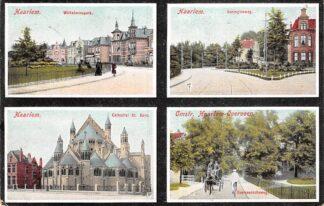 Ansichtkaart Haarlem Wilhelminapark Koninginneweg Cathedral St. Bavo Omstr. Haarlem - Overveen Overveenscheweg 1908 HC21225