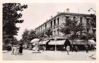 Ansichtkaart Algerije Alger Sisi-Bel-Abbes Carrefour de la Republique Frankrijk France Afrika HC21249