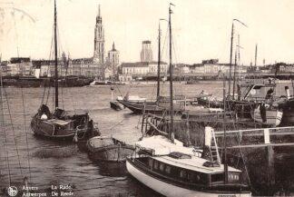Ansichtkaart België Antwerpen De Haven met binnenvaart schepen Scheepvaart Europa HC21259