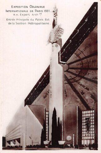 Ansichtkaart France Paris Exposition Coloniale 1931 Entree Principale du Palais Est de la section Metropolitaine France Europa HC21268