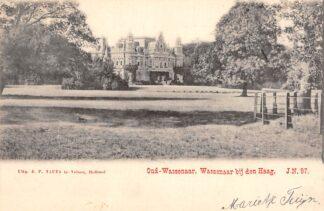 Ansichtkaart Oud-Wassenaar Kasteel Wassenaar bij den Haag 1902 Nauta J.N. 97 HC21277