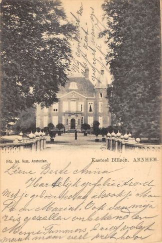 Ansichtkaart Arnhem Kasteel Bilioen 1902 HC21296