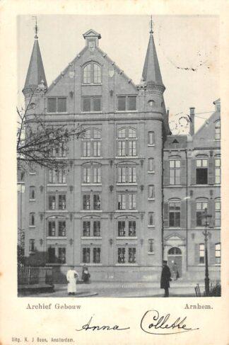 Ansichtkaart Arnhem Archief Gebouw 1900 HC21298