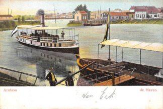 Ansichtkaart Arnhem de Haven 1904 Binnenvaart schepen Scheepvaart HC21322