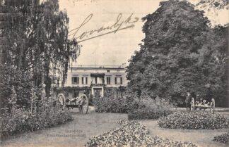 Ansichtkaart Arnhem Bronbeek Kommandantswoning met geschut Militair 1911 HC21330