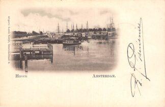 Ansichtkaart Amsterdam Haven 1905 Binnenvaart schepen Scheepvaart HC21342