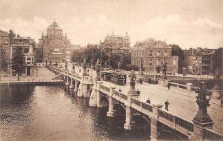 Ansichtkaart Amsterdam Hooge Sluis met Paleis voor Volksvlijt Tram 1901 HC21344