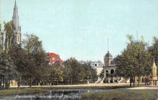 Ansichtkaart Amsterdam Vondelpark met Paviljoen 1908 HC21353