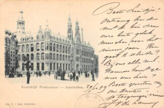 Ansichtkaart Amsterdam Koninklijk Postkantoor 1899 HC21354