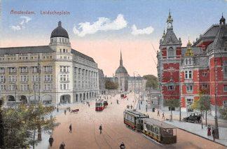 Ansichtkaart Amsterdam Leidscheplein 1925 Trams HC21362