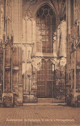 Ansichtkaart 's-Hertogenbosch Zuiderportaal De Kathedraal St. Jan 1917 HC21392