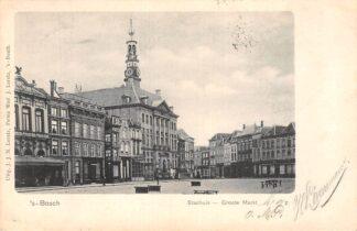 Ansichtkaart 's-Hertogenbosch Stadhuis Groote Markt 1903 HC21404