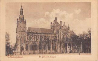 Ansichtkaart 's-Hertogenbosch St. Janskerk Zuidzijde 1920 HC21407