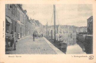 Ansichtkaart 's-Hertogenbosch Breede Haven 1909 Binnenvaart schepen Scheepvaart HC21408