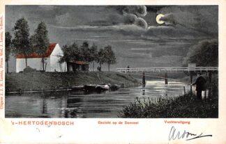 Ansichtkaart 's-Hertogenbosch Gezicht op de Dommel 1904 HC21410