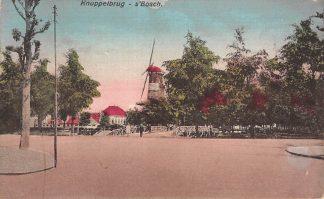 Ansichtkaart 's-Hertogenbosch Knuppelbrug Molen 1921 HC21411