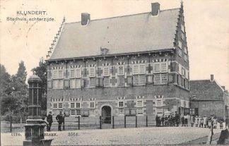 Ansichtkaart Klundert Stadhuis Achterzijde 1908 Moerdijk HC21415