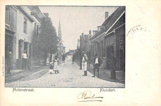 Ansichtkaart Klundert Molenstraat 1903 Moerdijk HC21420