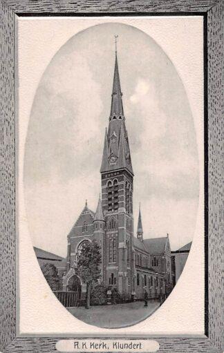 Ansichtkaart Klundert R.K. kerk 1911 Moerdijk HC21427