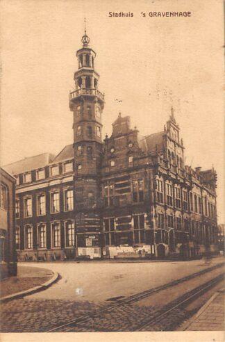 Ansichtkaart 's-Gravenhage Stadhuis 1908 HC21428