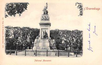 Ansichtkaart 's-Gravenhage Nationaal Monument 1900 HC21436