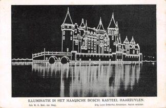 Ansichtkaart 's-Gravenhage Illuminatie in het Haagsche Bosch Kasteel Haarzylen HC21460