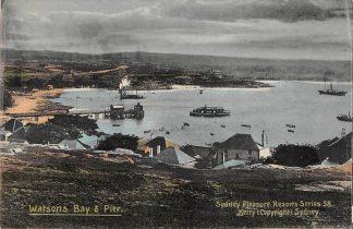 Ansichtkaart Australië Sydney Watsons Bay & Pier 1911 Australia HC21461