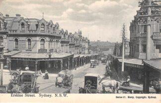 Ansichtkaart Australië Sydney N.S.W. Erskine Street 1911 Australia HC21463