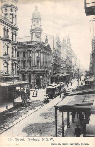 Ansichtkaart Australië Sydney N.S.W. Pitt Street met tram 1911 Australia HC21464